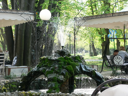 Барчето Кенор в парка на младежта