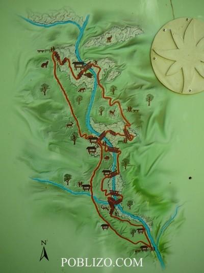 Карта на Екопътеката