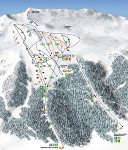 Карта на пистите - Витоша