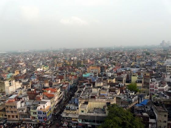 Гледка към улиците на Делхи