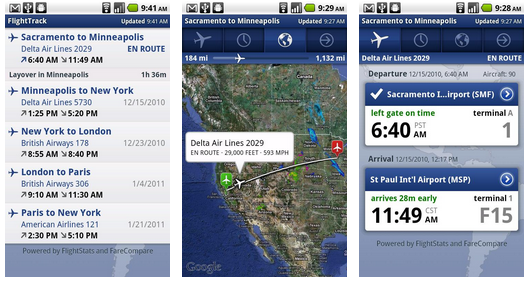 Flighttrack за Android