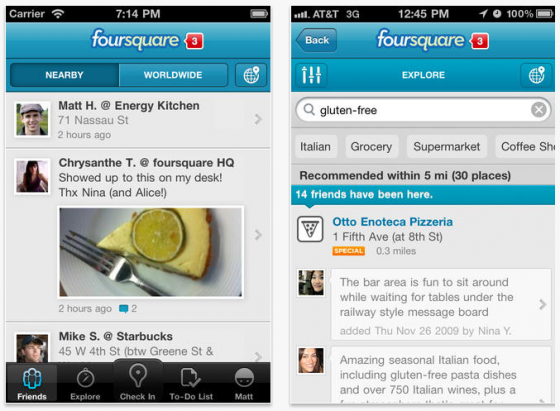 Foursquare for iphone