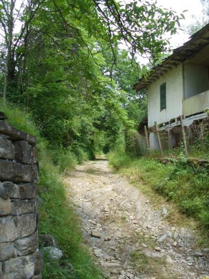 Началото на пътеката към Коваджиите