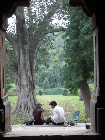 Романтични срещи в градината