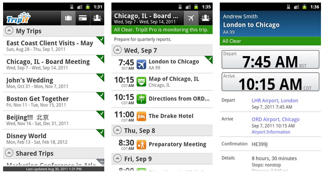 Tripit for android